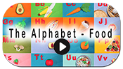 Alphabet food button