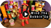 wind the bobbin up button